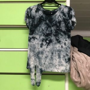 Tie dye t shirt with tie in front